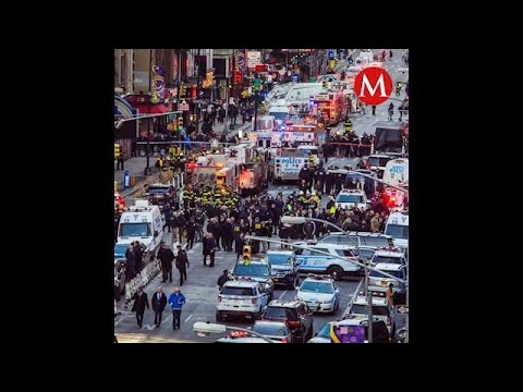 Atentado con bomba en metro de NY deja cuatro heridos