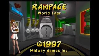 (Playthrough)Rampage World Tour N64 as Lizzie