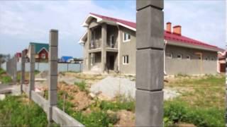 забор, бетонные столбы и цокольные панели(Как быстро возводится надежный и красивый забор. особенности Европейской технологии, которую на Урал приве..., 2013-08-21T09:36:50.000Z)