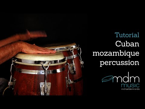 Cuban mozambique percussion