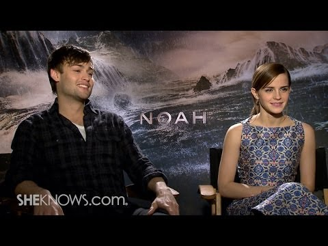 Stars Emma Watson & Douglas Booth Talk New Movie 'Noah' - Celebrity Interview