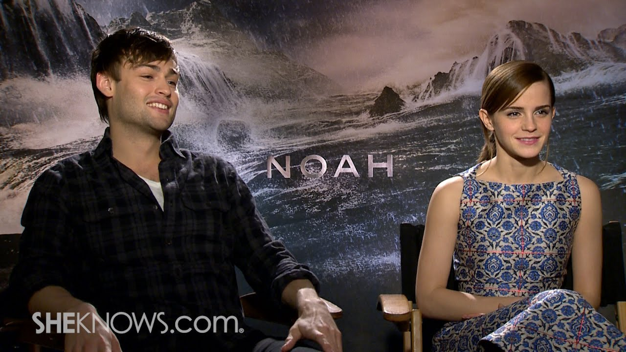 Stars Emma Watson & Douglas Booth Talk New Movie 'Noah ...