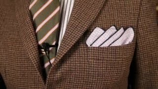 How to Fold a Handkerchief for a Sport Coat : Men
