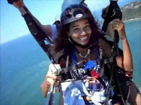 Bill and Yana Lock paragliding in Rio de Janeiro
