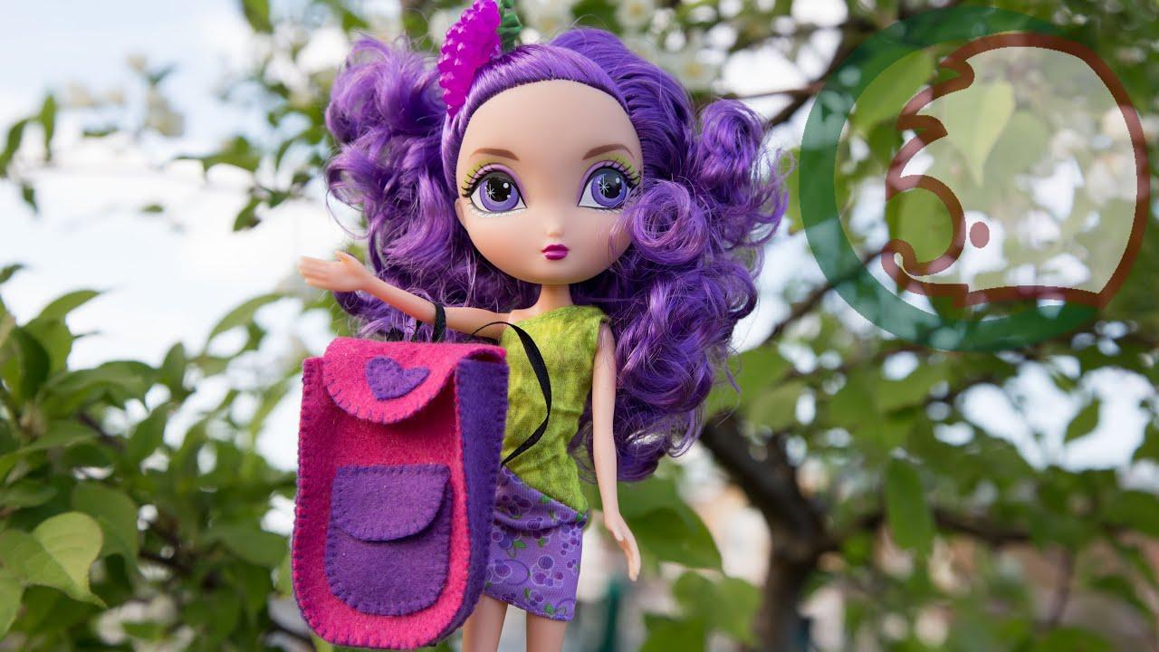 Как сделать рюкзак для куклы. How to make a backpack for doll .