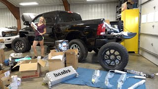 UNBOXING $20K IN NEW PARTS FOR MY WIFES CUMMINS BUILD!!!