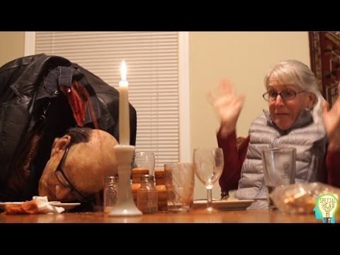 Holiday Dinner Table Decapitation Prank