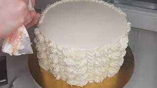 Украшаю торт кремом Две насадки и Крем чиз