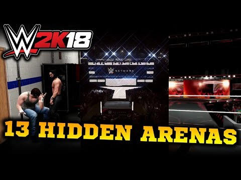 13 Hidden Arenas in WWE 2K18!