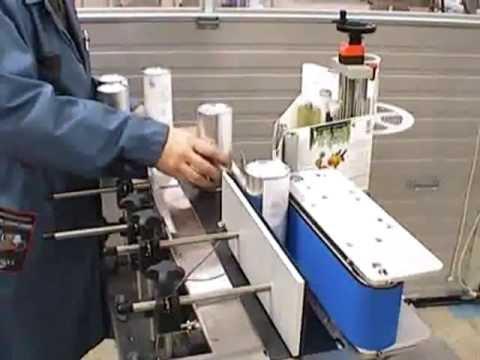 Jda fiber can labeler aerosol can labeling machine for Beer label machine