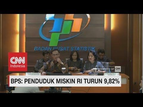 BPS: Jumlah Penduduk Miskin Indonesia Turun Jadi 9,82%, Rekor sejak 1998