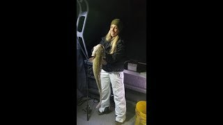 Big Ling out of Flaming Gorge night fishing