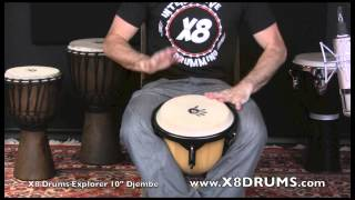 "X8 Drums Explorer Series 10"" Key Tuned Djembe Drum"