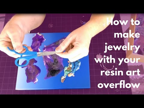 How to make Jewelry from Your Resin Art Overflow