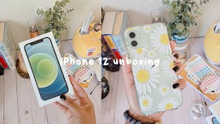 🐢 iphone 12 64gb: green | unboxing + accessories