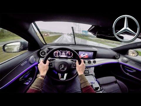 Mercedes Benz E Class 2017 POV Test Drive + AMBIENT LIGHTING