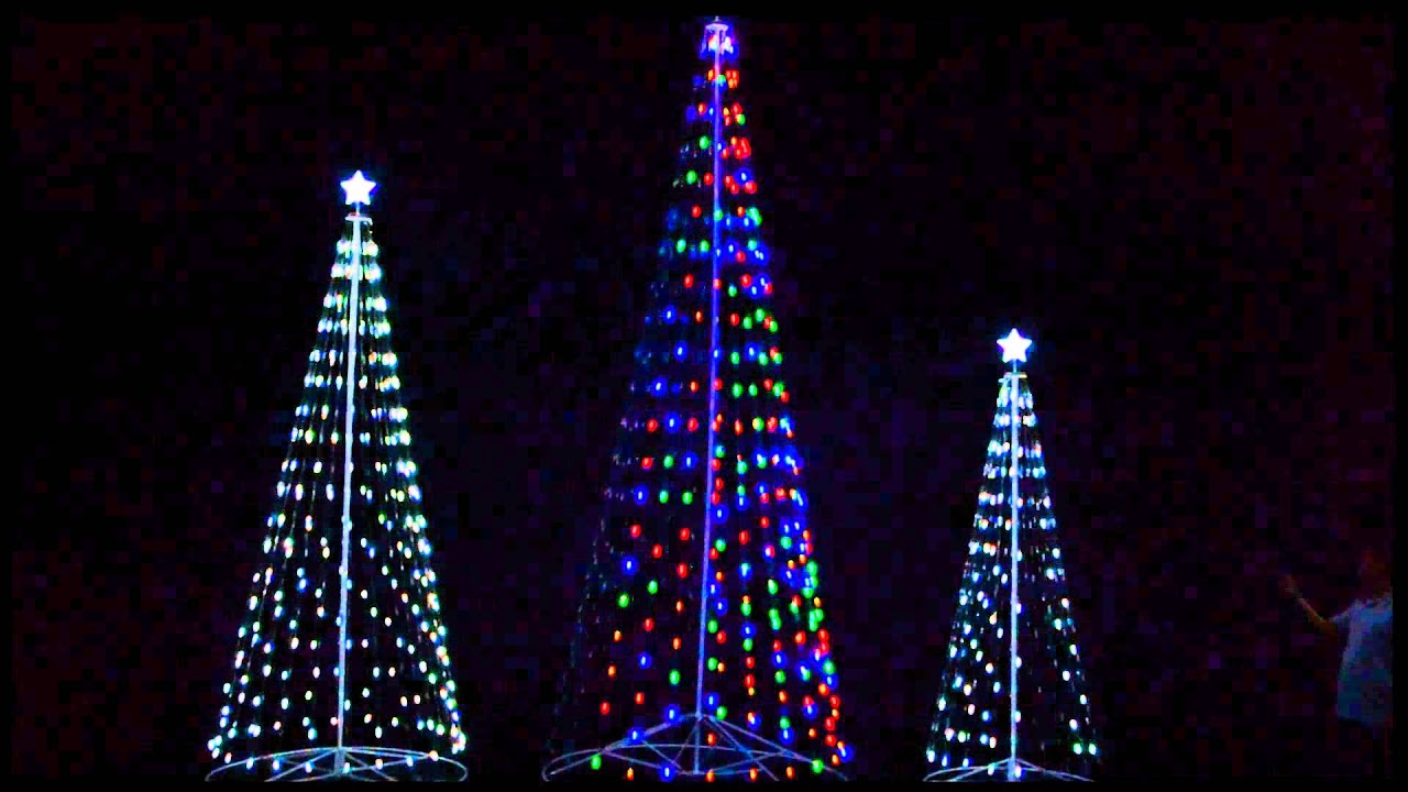 r c outdoor led cone trees youtube