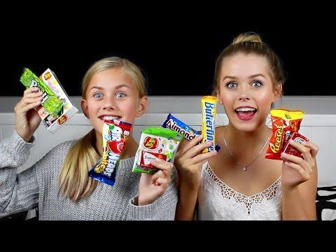 AUSTRALIAN GIRLS TRY AMERICAN CANDY