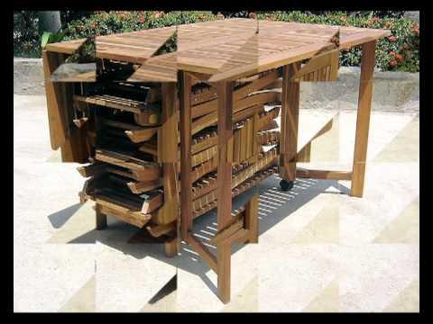 Set darwin tavolo quadrato pieghevole n 6 sedie pieghevoli in legno acacia youtube for Tavolo in legno pieghevole