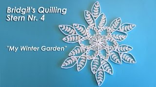 Bridgit's Quilling Stern Nr. 4 / Bridgit's Quilling Star No. 4 (Tutorial)