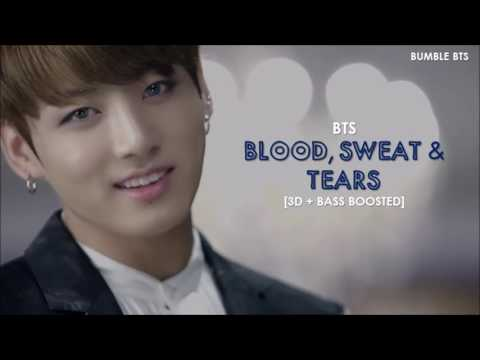 [3D+BASS BOOSTED] BTS (방탄소년단) - BLOOD, SWEAT & TEARS (피, 땀, 눈물) + ROMANIZED LYRICS | bumble.bts
