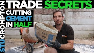 How to cut bag of cement in half - Trade secrets