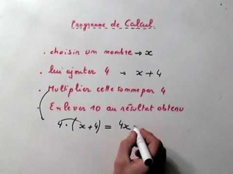 Maths 4 ème/ 5 ème : PROGRAMME DE CALCUL - YouTube