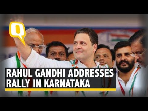 Rahul Gandhi Addresses a Rally in Kalaburgi, Karnataka