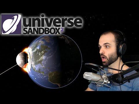 LUNA VS PLANETA TIERRA O_o | Universe Sandbox ² Gameplay Español