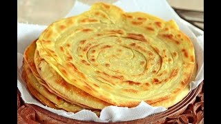 Lezgi Layered Bread Lachha Paratha Bread Лезгинские Слоёные Лепёшки Дагестанский хлеб