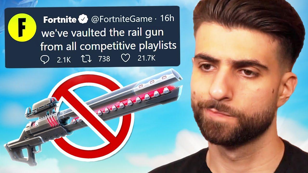 the rail gun is gone...