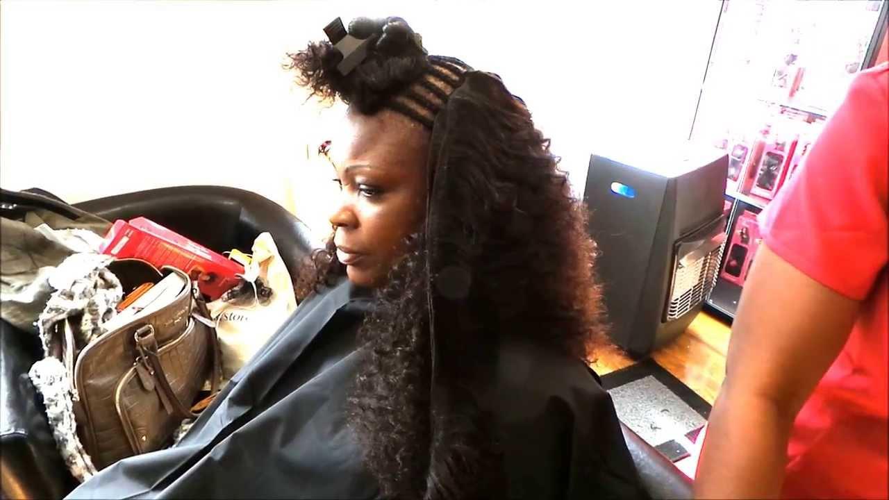 Valencia rose curly hair install youtube