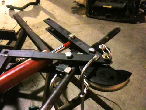 Exhaust Tubing Bender >> Home made hydraulic tubing bender - YouTube