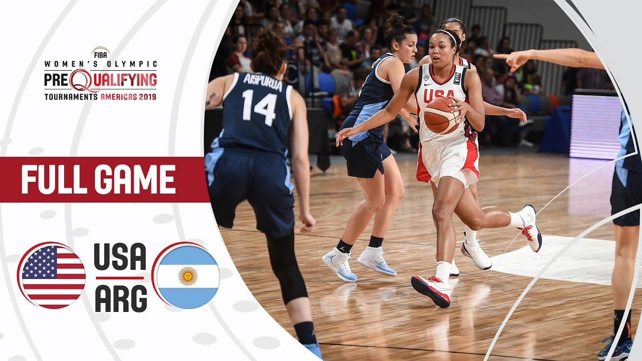 USA v Argentina - Full Game - FIBA Women's Olympic Pre
