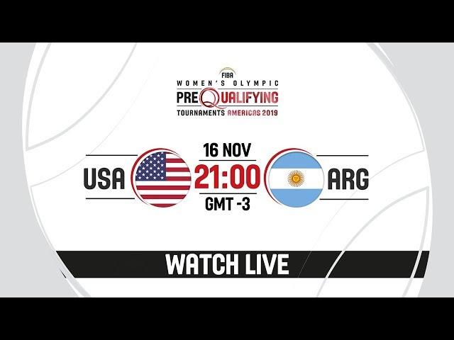 LIVE - USA v Argentina - FIBA Women's Olympic Pre-Qualifying Tournaments 2019