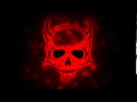 Free HD Stock-Footage - Burning Skull Graphic