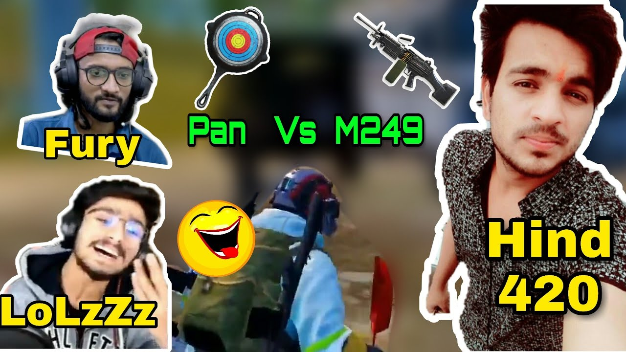 【Bi】vs Hind Again Fight🔥; Pan VS M249 😱 【Bi】 LoLzZz + FuryYT + GodL Sanu vs Hind 420 + Soldier;