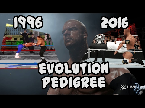 Evolution of the Pedigree from WWF in Your House to WWE 2K17