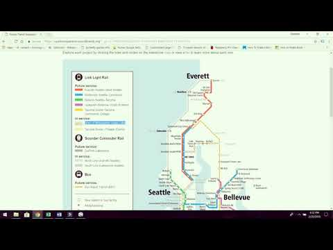The future plans for rail transit in the Seattle region