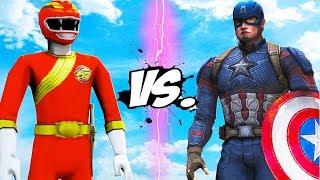 CAPTAIN AMERICA VS GAO RED (Gaoranger) - Epic Battle