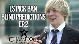 LS LCK Pick Ban Predictions Confirmed Prophet! Ep.2 Week 2
