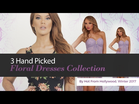 3 Hand Picked Floral Dresses Collection By Hot From Hollywood, Winter 2017