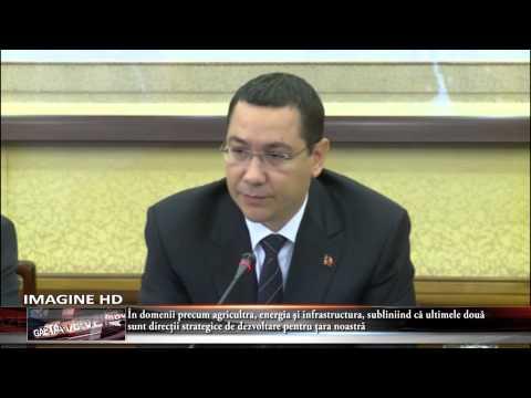 Victor Ponta le a amintit investitorilor chinezi că anul trecut a avut loc la Bucureşti Forumul Chin