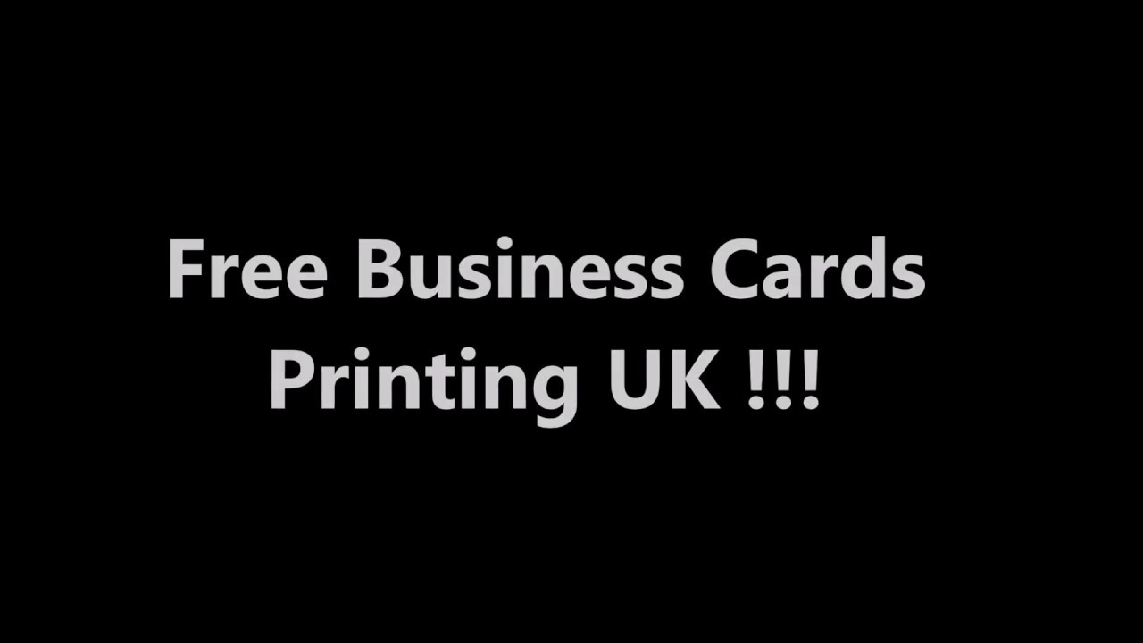 100% Free Business Cards Printing UK + Free Delivery - Print In ...