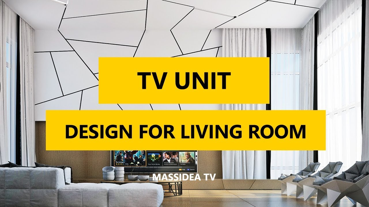 50 best modern tv unit design for living room in 2018 for Tv unit designs for living room