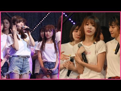 Sashihara Rino when announce graduation | IZONE's Miyawaki Sakura and Yabuki Nako in tears