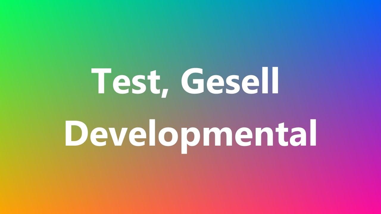gesell developmental milestones