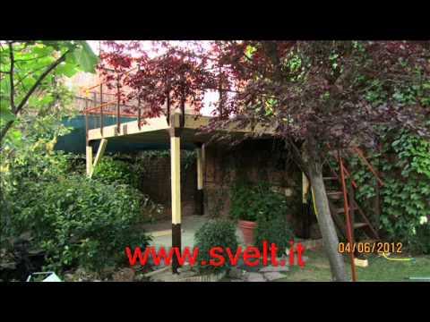 Soppalco in legno e acciaio tw15 youtube for Soppalco d arredo