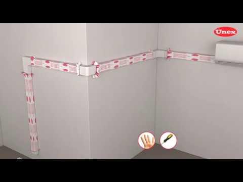How to mount Unex Trunking 31 detachable strip