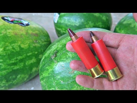 Thumbnail: Watermelon Vs 12 Gauge 50 BMG - Exotic Ammo